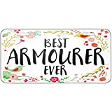 Neonblond Happy Floral Border Armourer Metal License Plate