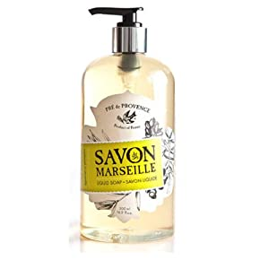 Pre de Provence Savon De Marseille Liquid Soap for Bathroom, Laundry Rooms, Kitchen - Natural Marseille