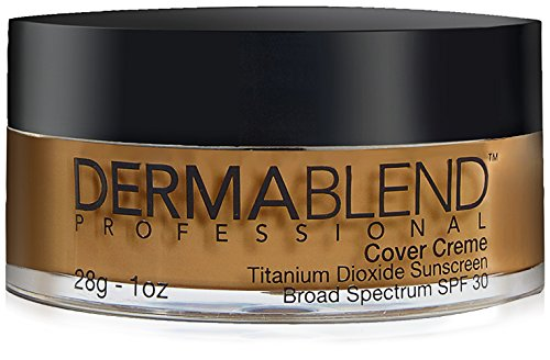 Dermablend Cover Creme High Coverage Foundation with SPF 30, 60N Café Brown, 1 Oz.
