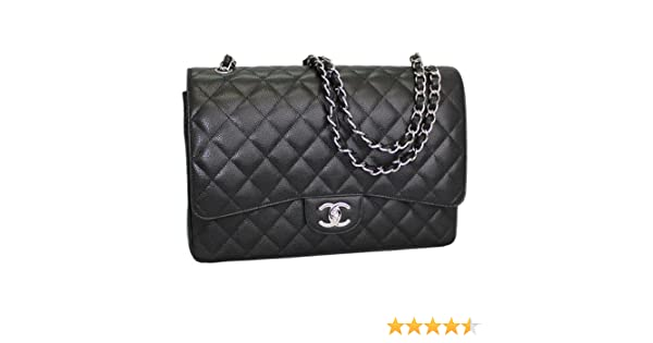 d31d4cd89f3d CHANEL Women s Caviar Quilted Leather Chain Shoulder Bag Black A58601   Handbags  Amazon.com