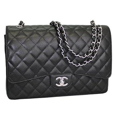 2e74276284ed CHANEL Women's Caviar Quilted Leather Chain Shoulder Bag Black A58601:  Handbags: Amazon.com