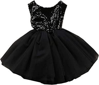 Girls Toddler Princess Party Pageant Wedding Tulle Tutu Sequin Bridesmaid Dress