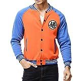 YangXinYuan Dragon Ball Z GOKU Long Sleeve Casual Sweatshirt(L,Orange&Blue)