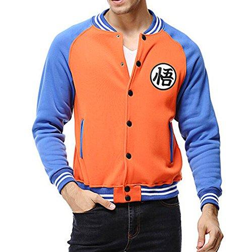YangXinYuan Dragon Ball Z GOKU Long Sleeve Casual Sweatshirt(2XL,Orange&Blue)