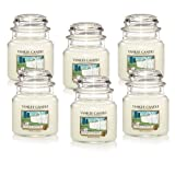 Yankee Candle Company Clean Cotton 14.5-Ounce Jar Candle, Medium, Set of 6