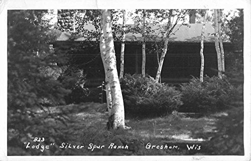 Gresham Wisconsin Lodge Silver Spur Ranch Real Photo Antique Postcard (Silver Spur Ranch)