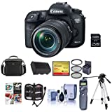 Canon EOS 7D Mark II Digital SLR Camera with EF-S 18-135mm IS USM Lens & W-E1 Wi-Fi Adaper Kit - Bundle w/Camera Bag, 64B Class 10 SDXC Card, Remote Shutter Trigger, Video light, Tripod, And More
