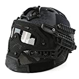 Cibeat Protective Tactical Helmet Airsoft Paintball Tactical Full Face Mask Goggle Outdoor Activities