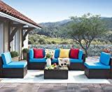 Homall 6 Pieces Patio Outdoor Furniture Low Back