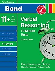 New Bond 10 Minute Tests Verbal Reasoning 9-10 Years