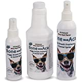 Doggy Breath Freshener & Dental Spray by Bone-Aca 8 oz. Natural Minty Beef Flavor For Small, Medium & Large Dogs. Eliminates Bad Breath Naturally. Reduces Tarter & Plaque. Alcohol Free