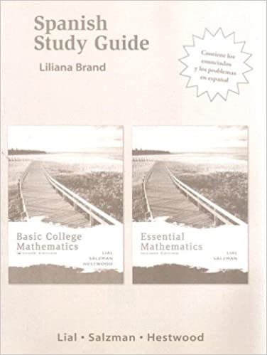 Basic college mathematics (7th edition) by margaret l. Lial.