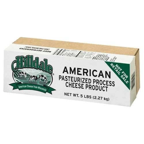 Hilldale American White Process Cheese Loaf, 5 Pound -- 6 per case. by Land O Lakes