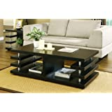 Furniture of America Enitial Lab Dean Modern Coffee Table, Cappuccino