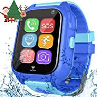 Kids Smart Watch Phone with GPS Tracker for Boys Girls Sport FitnessTracker Watch with Pedometer...