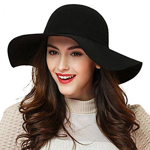 Check expert advices for black felt hat women wide brim?