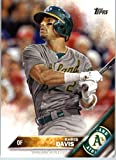 2016 Topps Series 2 #598 Khris Davis Oakland Athletics Baseball Card in Protective Screwdown Display Case