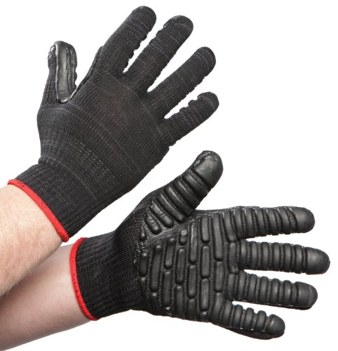 Anti Vibration Air Glove - Impacto VI473240 Vibration Reducing Glove, Black