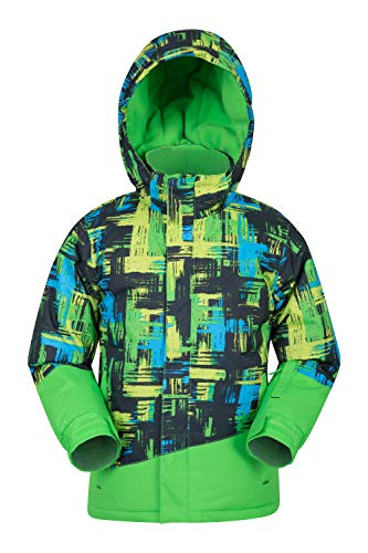 The Mountain Downhill Skis - Mountain Warehouse Downhill Kids Printed Ski Jacket -Warm Winter Coat Lime 3-4 Years