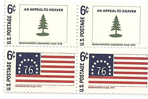 1968 US Postage Stamp Block Of 4 (Flags) MNH Scott #1347 And #1348