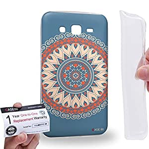 Case88 [Samsung Galaxy Grand 2] Gel TPU Carcasa/Funda & Tarjeta de garantía - Art Fashion Tangerine Circus Mandala Cross Art0790