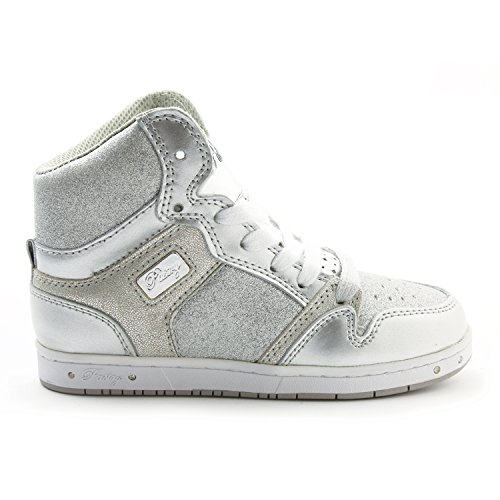 (Pastry Glam Pie Glitter Dance Sneakers, Silver, Youth/Size 1)