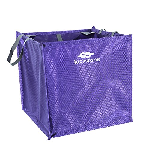 Foldable Rock Tree Climbing Throw Line Rope Cord Protector Deploy Cube Carry Bag - Purple