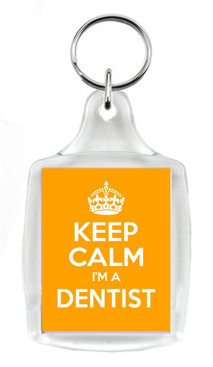 Keep Calm I m un dentista naranja llavero, un regalo único ...