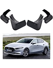 Car Mud Flaps Splash Guards Replacement for Mazda 3 Sedan 4dr 2019 2020 2021 Custom Front Rear Mudguard Kit Molded Fender Mudflaps Full Protection Auto Accessories,4-pc Set