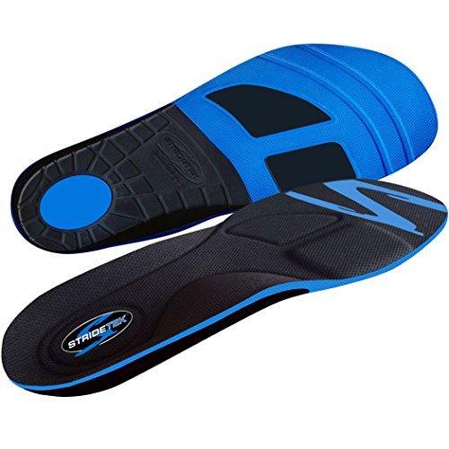 Stridetek Tactical Trainer Orthotic Insoles - Arch Support Metatarsal Pad & Gel Plugs Prevent Foot Pain Plantar Fasciitis & Shin Splints - (Blue) - Mens 11 / Womens 12 by Stridetek