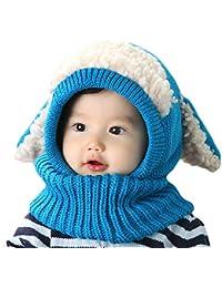 10e6bd49678 2 Pack Baby Boy Girl Winter Warm Fleece Lined Hat Infant Toddler Kid  Crochet Hairball Beanie