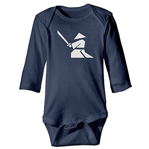 (Unisex Baby Onesies 25 Warrior Long Sleeve)