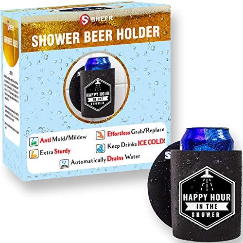 Cheap Beer Koozies (Sheer - Shower Beer Holder Koozie - Extra Sturdy - Stays Clean (Anti Mold), Effortless Grab/Replace Design, Drains Water - Keep Beer or Soda Ice)