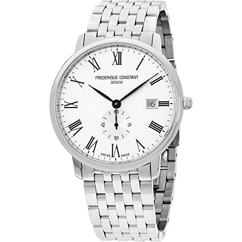 Frederique Constant Slimline Silver Dial Stainless Steel Men's Watch FC245WR5S6B