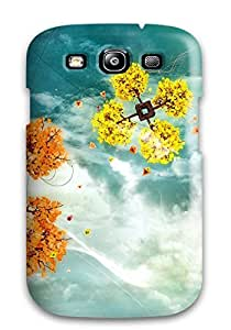 New Fashion Premium Tpu Case Cover For Galaxy S3 - Colorful Sky Trees by lolosakes