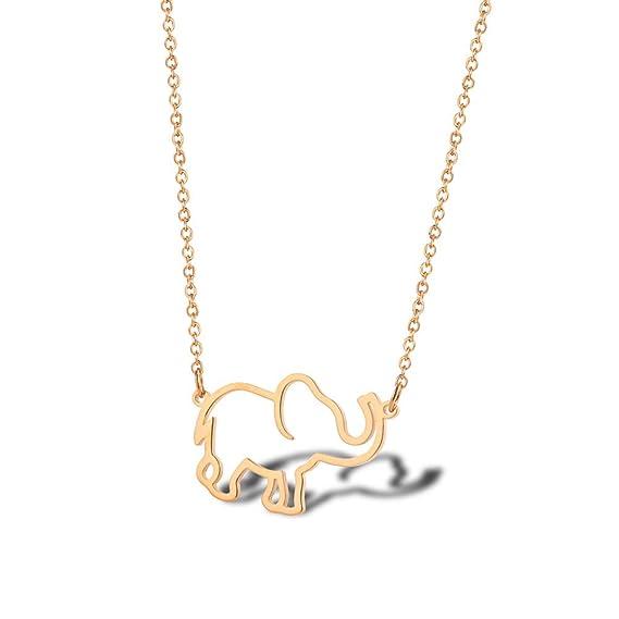 Regalo de 60 cumpleaños para mujer - Collar de elefante de ...