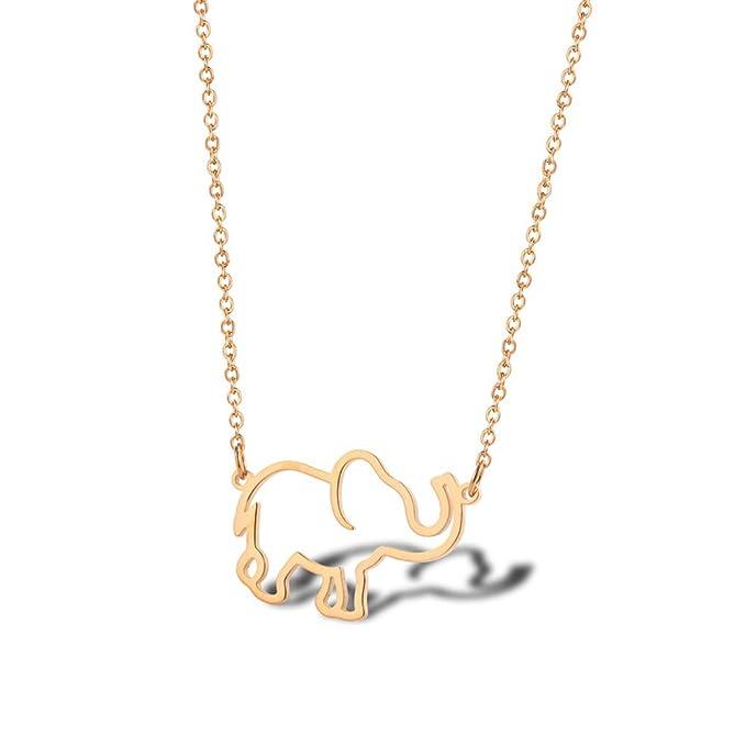 40 cumpleaños regalos para mujer - Collar de elefante de ...