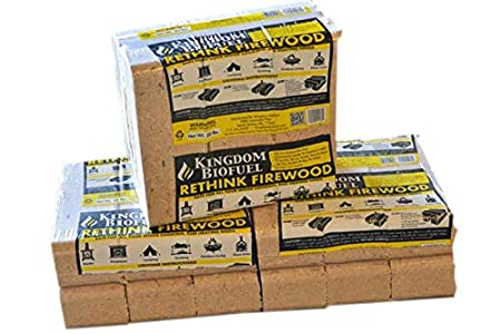 Amazon.com: Kingdom BioFuel Fire Logs (6 unidades) para ...