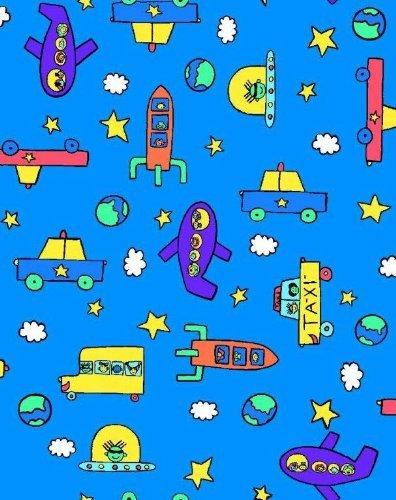 SheetWorld Crib/Toddler Sheet - Kiddie Transport - Made In USA [並行輸入品]   B077ZS5NH2