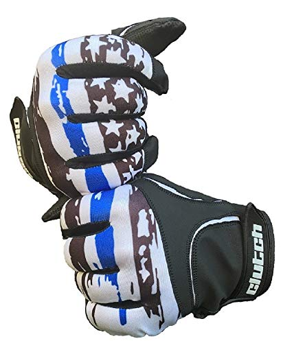 Clutch Sports Apparel Thin Blue Line Batting Gloves (Youth X-Large)