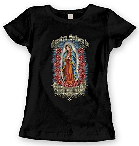 Blittzen Juniors T-shirt Nuestra Senora De Guadalupe, L, Black