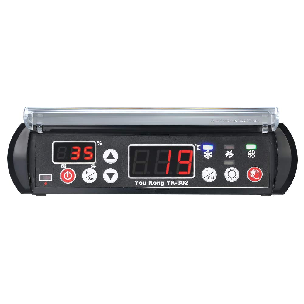 KKmoon Digitale Regolatore di Temperatura e Umidit/à 220V Rettile Termostato Igrostato per Cova Serra Macchina di Coltivazione Magazzino Medicina Raffreddamento Microcomputer Regolatore