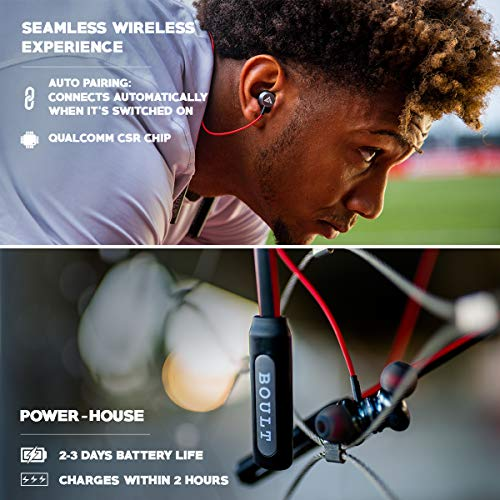 Boult Audio ProBass Curve Neckband in-Ear Wireless Earphones with Latest Bluetooth 5.0 with in-Built Mic(Blue)