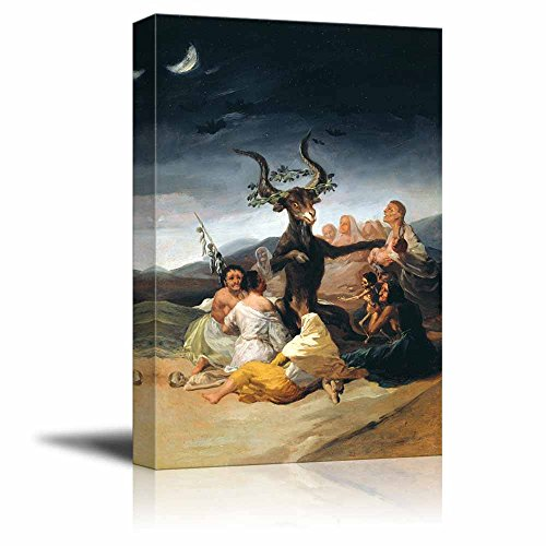 wall26 - The Sabbath of Witches by Francisco Goya - Canvas Print Wall Art Famous Painting Reproduction - 32