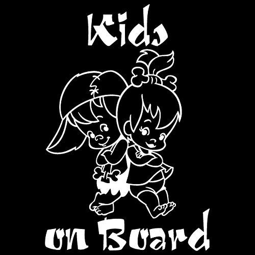 Kids on Board / Boy Girl Twins / Car Window Vinyl Decal Sticker (B-06) (7.5