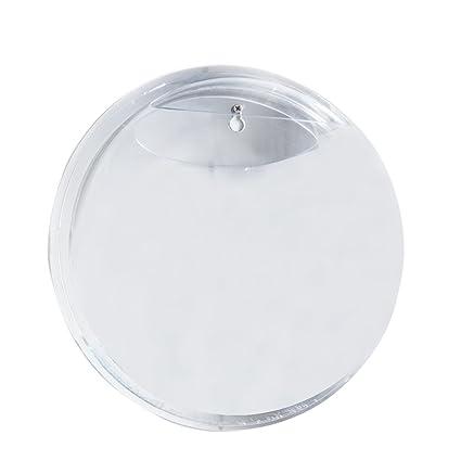 15 cm de diámetro Claro Mini acrílico redonda soporte de pared ...
