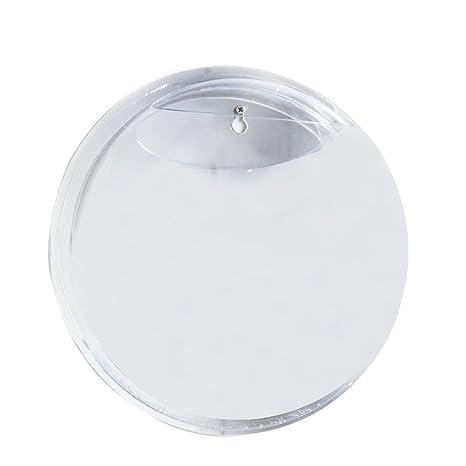 15 cm de diámetro Claro Mini acrílico redonda soporte de pared pecera tanque Flores Plantas Jarrón