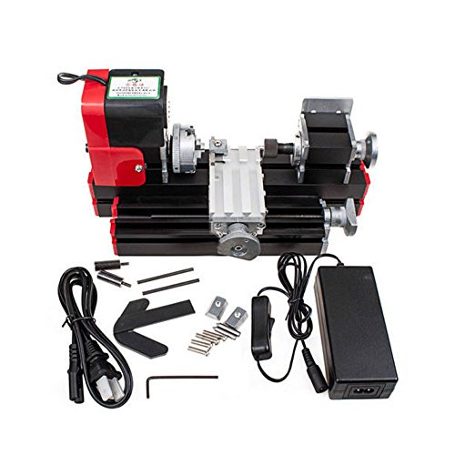 DIY Mini Multifunction Metal Lathe Machine for School Teaching Laboratory 20000rev/min 12VDC 24W by top-tool