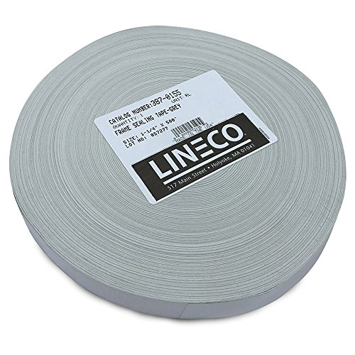 Lineco Self-Adhesive Frame Sealing Tape, 1.25 inch X 500 Foot Roll, Blue/Gray (387-0155)
