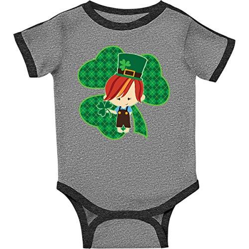 inktastic - Leprechaun Infant Creeper 6 Months Ringer Heather and Smoke 2ea59 ()